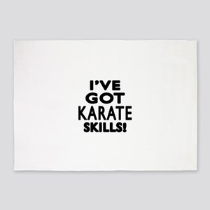 Karate Skills Designs 5'x7'Area Rug